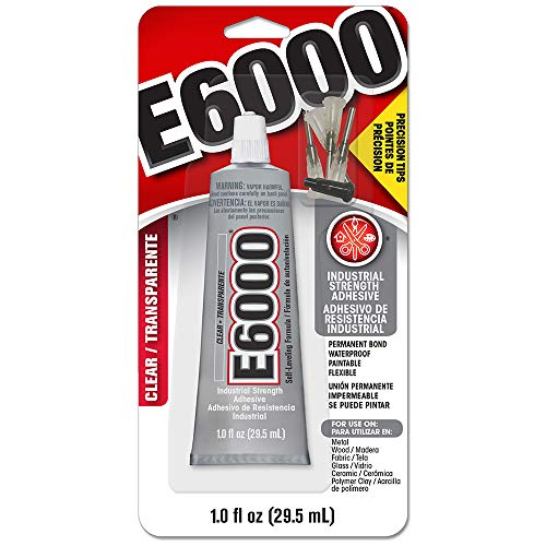 E6000 231020 Adhesive with Precision Tips, 1.0 fl...