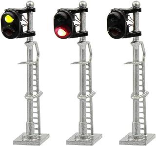JTD1503GR 3PCS Model Railroad Train Signals 2-Lights Block Signal N Scale 12V Green-Red Traffic Lights for Train Layout New