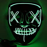 Etmury Halloween Maske Led Leuchten Masken mit 3 Einstellbare Blitzmodi für Horror Halloween...
