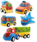 Forever Kidzz Pull Back Friction Powered Unbreakable car Truck Set Toys for Kids/Toddler Best for...