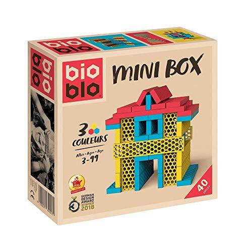 Bioblo Jaune Rouge Bleu Briques Mini-Box gelb rot blau 40 Steine
