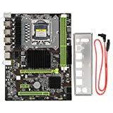 Placa Base de PC para Intel X85, CPU para Intel LGA 1366/2 * DIMM DDR3 1066/1333/1600MHz Memoria/Tarjeta de Red Gigabit/1 * Tarjeta gráfica PCI-E X16 Soporte de Placa Base RECC Memory Pro