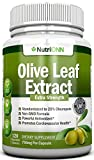 Olive Leaf Extract - 750 Mg - 120 Capsules - Extra Strength - 20% Oleuropein - Non-GMO Formula - Highest Quality from Pure Olive Leaves - Powerful Antioxidant - Great for Heart, Skin and Brain