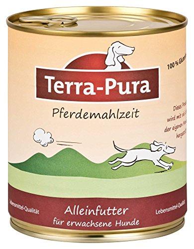 Terra Pura Hundefutter Pferdemahlzeit 800 g Glutenfrei, 6er Pack (6 x 800 g)