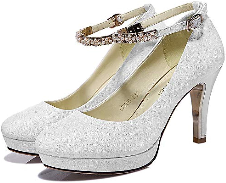 PINGXIANNV Schuhe Der Hohen Absatzfrauen Runde Flache Flache Schuhe des Flachen Stilettstudenten Flachen Munds Einzelne  Factory Outlet Store