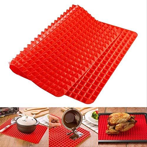 HZP Kookmat, siliconen, antiaanbaklaag, voor het verminderen van vet, baken, grill, olie, filterpads, bladen, kookmat