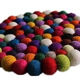 Fairtrade Filz Untersetzer Topf Untersetzer kunterbunt 22 cm handgefertigt aus reiner Wolle, hitzebeständig - 3