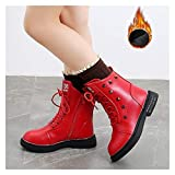WanXingY Niños Invierno Martin Botas Calientes Peluches Calzado Deportes Botas para niños Botas Deportivas Antideslizantes Chicas Botas de Nieve (Color : Red, Size : 29 (Insole 17.6CM))