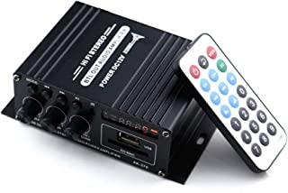 AK370 12V Mini Audio Power BT Digital Audio Receiver AMP USB Memory Card Slot MP3 Player FM Radio LCD Display with Remote ...