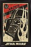 Trends International Star Wars: Saga - Vader Propaganda Wall Poster, 22.375' x 34', Black Framed Version