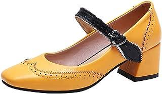 VulusValas Women Square Toe Pumps Shoes