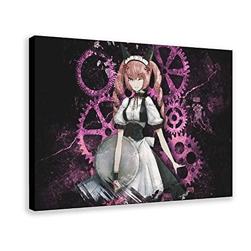 Anime Steins Gate Faris Nyannyan 1 póster de lona para decoración de dormitorio, deportes, paisaje, oficina, habitación, marco de regalo, 40 x 60 cm