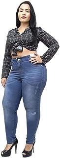 Calça Jeans Credencial Plus Size Skinny Jakelini Azul