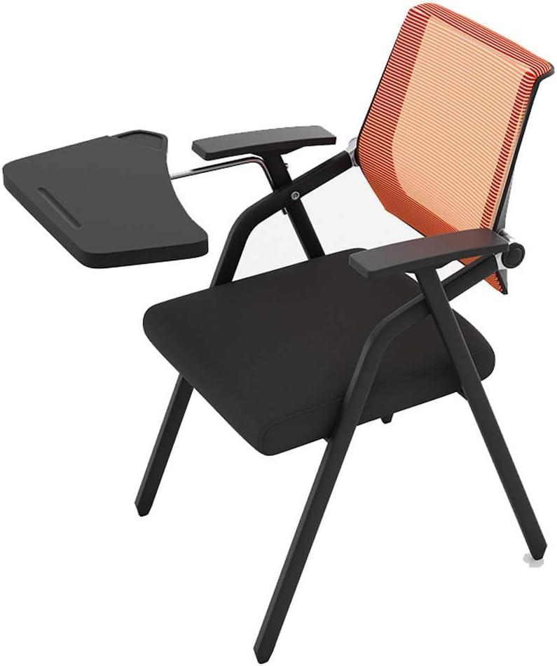 YDYG Chaise Pliante avec Bras Tablette, Tablette Learniture Fauteuil Nesting, Chaise De Bureau avec Cadre Métallique pour Home Office Party Utilisation,Vert Green