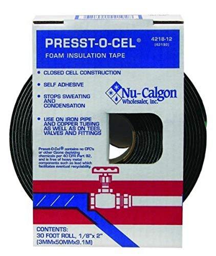 Nu-Calgon 4218-12 Perma-Wrap Foam Insulation Tape, 2? x 1/8? x 30´ Roll-Dispenser Package