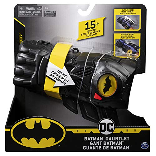 Batman 6055953 interaktiver Handschuh mit über 15Sätzen und Geräuschen, für Kinder ab 4Jahren, Multicolour