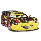 Cars 2 'Jeff Gorvette' Disney - Parches termoadhesivos bordados aplique para ropa, tamaño: 7 x 3,7 cm