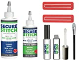 J - GO THE BUSINESS HUB Secure Stitch Liquid Sewing Solution Kit! Fabric Glue That Quickly Mends, Alters, Hems & Embellishes Without a Needle and Thread