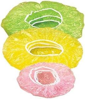 24PC Couvre-Aliments élastiques couvertures en Plastique réutilisables couvercles Non Toxiques Fruits ou Bols Tasses Ensem...
