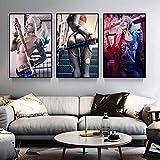 manbgt Film Sexy Clown Mädchen Harley Quinn Anime Poster Startseite Leinwanddruck Wohnzimmer Leinwand Leinwand Dekoration Malerei Kunst Poster 50X70cm 20x28inch Kein Rahmen