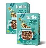 Turtle Cereales Granola orgánica sin gluten con semillas de girasol, calabaza, lino y nueces - 2 x 350 gramos