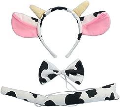 Christmas Headband Mouse Dalmatian Ears and Tail Set Kids Halloween Costume Kit