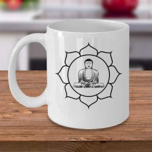 Yoga Kaffeebecher Buddha In Lotus Chakra Symbol Geschenk Meditation New Age Meditative Accessoires Buddhismus Siddhartha Gautama Themengeschenk
