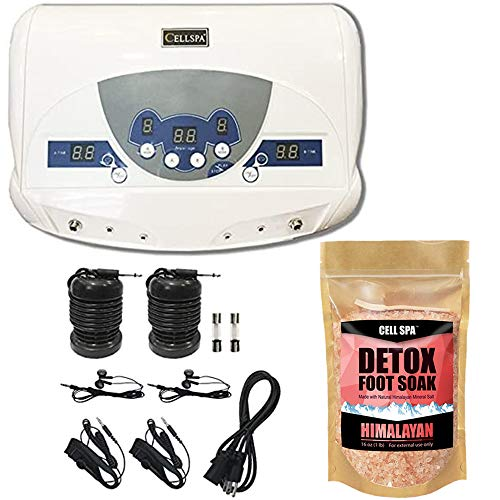 Cell Spa, Dual Ionic Ion Detox Aqua Foot Spa Chi Cleanse Machine with Mp3 Music Players (HIMALAYAN)