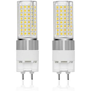 G12 LED Bulbs Cool White 6000K LED Corn Light Bulb for Home Street Warehouse Factory,Not Dimmable,144 LED 2835 SMD,2 Pack 150W Halogen Flood Light Replacement JKLcom G12 LED Light Bulbs 15W