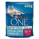 ONE - Chat - Spécial Chat Stérilisé - Bœuf et Blé - 450g - Lot de 10