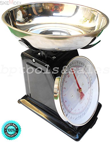 COLIBROX-22lb Platform Scale Dial Kitchen Home Scale Stainless Steel Bowl Produce Food. 22lb Platform Scale. with Large Removable Stainless Steel Bowl. Ideal for Weighing Food, Fruit and Produce