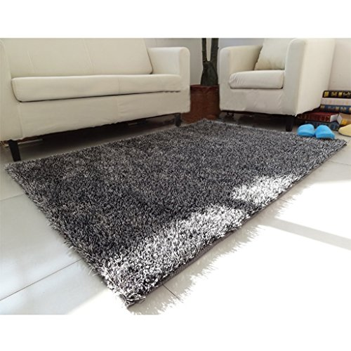 Lewie-Carpet Lumineux Soie Tapis Salon Table Basse Chambre Lit Devant Le rectangulaire Tapis 140 * 200cm Soie Soft Lavable antiadhésif poussière