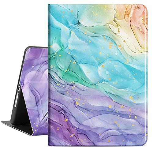 Lokigo - Funda para iPad de 8ª generación 2020, funda para iPad de 10,2 pulgadas de mármol de 7ª generación 2019 delgada carcasa...