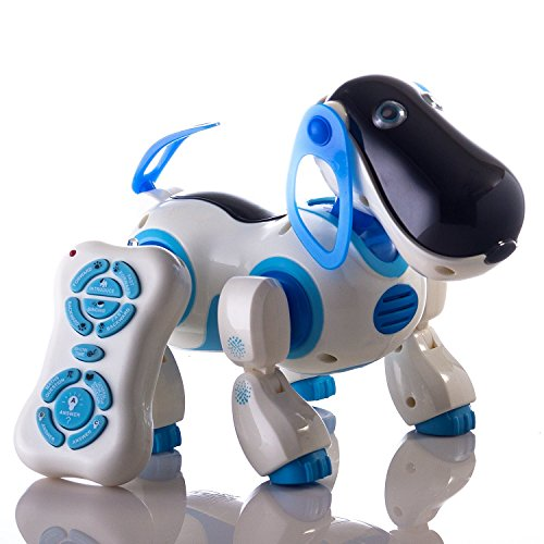 Durherm Smart Storytelling Robot Dog, Sing Dance Walking Talking Dialogue Cute Pet Toy with Infrared Remote Control