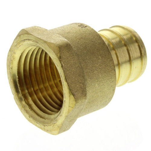 (pack of 10) 1/2' PEX x 1/2' Female NPT Threaded Adapter - Brass Crimp Fitting