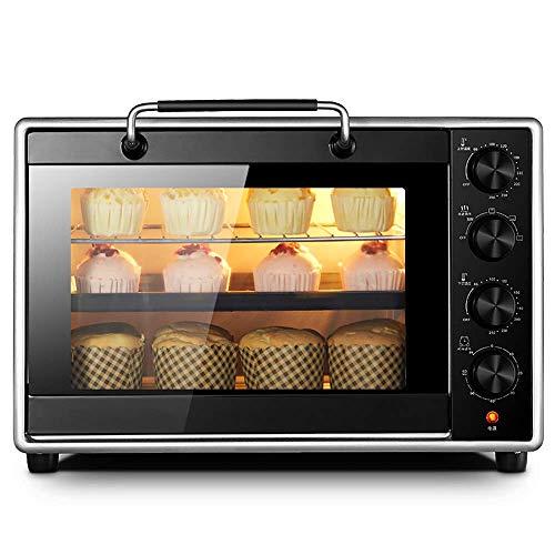LZMXMYS Horno tostador, 40 Horno Home Baking multi-función automática de gran capacidad Pastel Horno eléctrico, independiente de la temperatura de control for superior e inferior, la manija de acero i