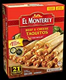 El Monterey Beef and Cheese Flour Taquito, 1.31 Pound -- 5 per case.