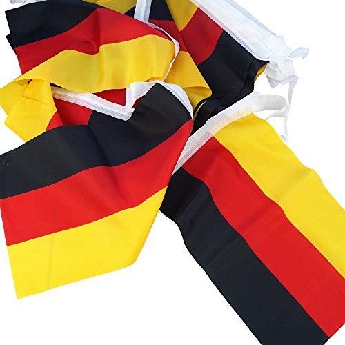 Deutschland Wimpelkette 10,80 m, Flaggenkette, Fahnenkette, Girlande, Weltmeisterschaft, Fussball, Fußball