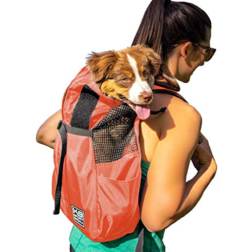 K9 Sport Sack Trainer | Dog Carrier Dog Backpack for Small and Medium Pets | Front Facing Adjustable Dog Backpack Carrier | Veterinarian Approved (Small, Koral)