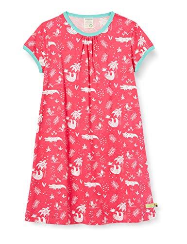 Loud + Proud Dress Allover Print Organic Cotton Robe, Rose (Azalea aza), 74/80 Bébé Fille