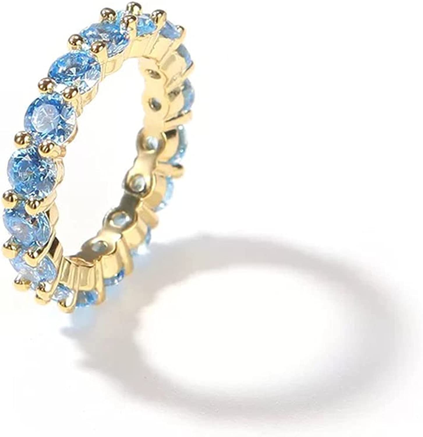 TKMIRA 14K Gold Plated Rings 2021new shipping free Zirconia Cubic Eternity Bands Sales of SALE items from new works
