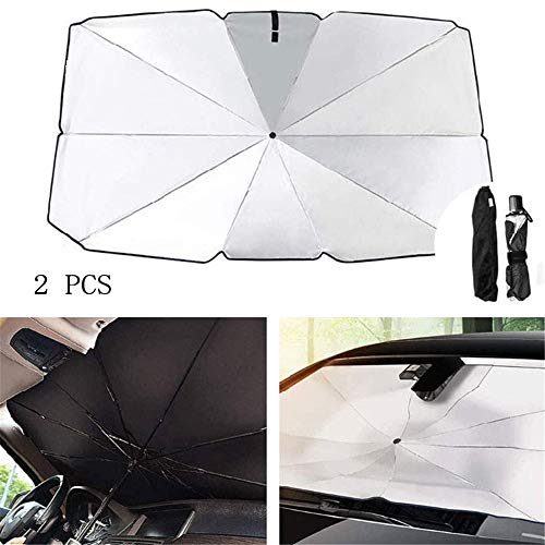 Car Windshield Umbrella,Umbrella Type Car Sunshade,Windshield Sun,Applicable To The Front Or Rear Windows Of Most Cars, Effectively Preventing Ultraviolet Rays And Avoiding Sun Exposure (2 PCS Groß)