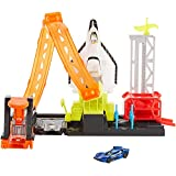 Hot Wheels Super Space Shuttle Launch Pad Set with Moving Shuttle, Kid-Powered...