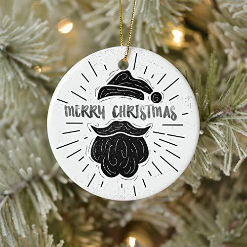 McC538arthy Christmas Santa Hat Ornaments, Cute Santa Elf Hat Vintage Christmas Ornaments Hanging Ornament Xmas Tree Decor Gifts 3''