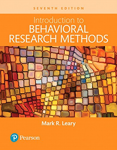 Introduction to Behavioral Research Methods -- Books a la Carte (7th Edition)
