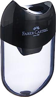 Faber-Castell 183500 Manual pencil sharpener Negro, Transparente - Sacapuntas (Manual pencil sharpener, Negro, Transparente)