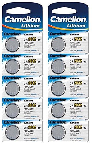 Camelion Lithium 3V Knopfzellen 10 Stk. (2 Blister) CR2032