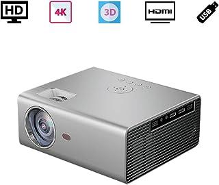 ポータブルプロジェクター小型、 家庭用 TV プロジェクター、3D ビデオ 映画プロジェクター3500 ルーメン、720P 元の解像度 1080p 4Kサポート、携帯電話、パソコン、PS4、Fire TV Stick 対応、HDMI USB VGA AV 対応