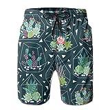 PKPK Shorts de Playa Arte Popular Sueco Dala Horse Shorts de Moda para Hombres Shorts de baño de Secado rápido Shorts de Playa