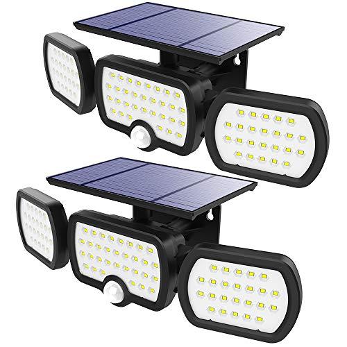 Foco Solar Exterior LED, CNSUNWAY Detector de movimiento solar...